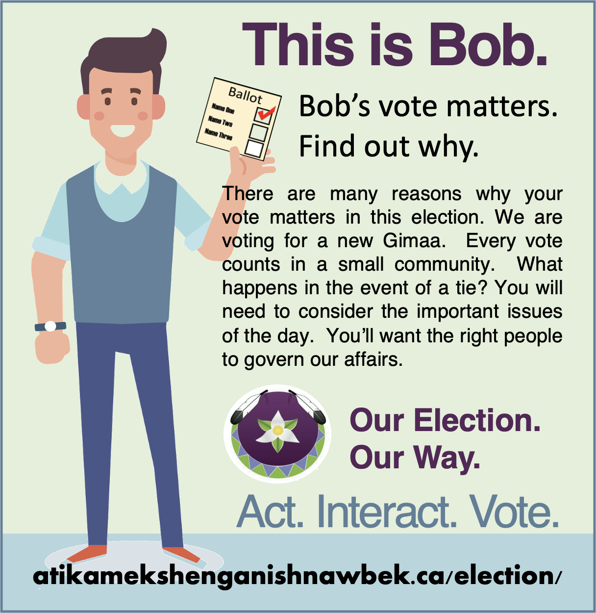 This is Bob.  Bob's vote matters.  Find out why.