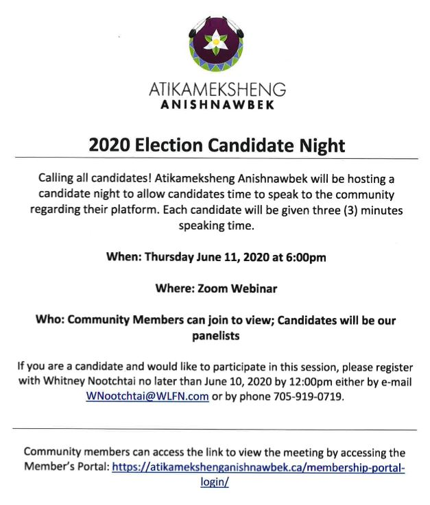 Call for 2020 Election Candidates Night